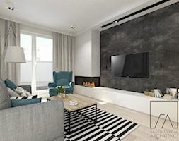 MIESZKANIE // POZNAŃ // WILDA - Średni szary biały salon, styl nowoczesny - zdjęcie od SZTYBLEWICZ_architekci - Homebook