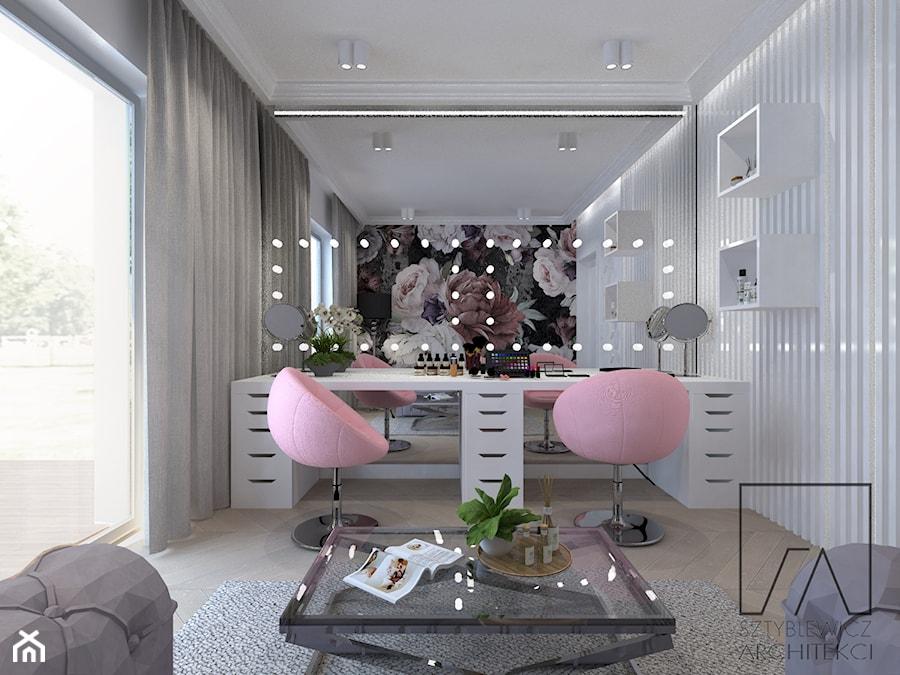 Aranżacje wnętrz - Biuro: makeup room - SZTYBLEWICZ_architekci. Przeglądaj, dodawaj i zapisuj najlepsze zdjęcia, pomysły i inspiracje designerskie. W bazie mamy już prawie milion fotografii!