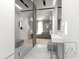 MIESZKANIE // WARSZAWA // BEMOWO - Mały biały hol / przedpokój, styl nowoczesny - zdjęcie od SZTYBLEWICZ_architekci