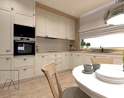 DOM // POZNAŃ - Średnia otwarta kuchnia w kształcie litery l z oknem, styl skandynawski - zdjęcie od SZTYBLEWICZ_architekci