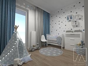 POKOIK DZIECKA // POZNAŃ MALTA - Średni szary pokój dziecka dla chłopca dla dziewczynki dla niemowlaka, styl skandynawski - zdjęcie od SZTYBLEWICZ_architekci