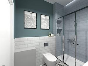 MIESZKANIA LOFT / WERSJA 2 - Mała zielona łazienka w bloku w domu jednorodzinnym bez okna, styl industrialny - zdjęcie od SZTYBLEWICZ_architekci