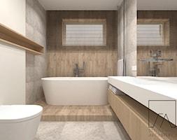 DOM // POZNAŃ - Mała biała łazienka w bloku w domu jednorodzinnym z oknem, styl nowoczesny - zdjęcie od SZTYBLEWICZ_architekci