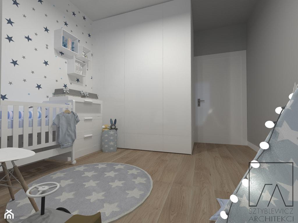 POKOIK DZIECKA // POZNAŃ MALTA - Średni szary pokój dziecka dla chłopca dla dziewczynki dla niemowlaka, styl skandynawski - zdjęcie od SZTYBLEWICZ_architekci - Homebook