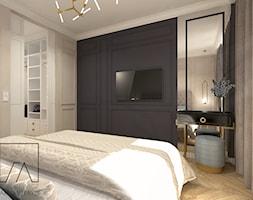 MIESZKANIE POZNAŃ / MARCELIN - Średnia szara czarna sypialnia małżeńska, styl glamour - zdjęcie od SZTYBLEWICZ_architekci - Homebook