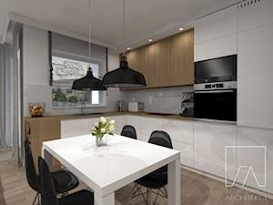 Mieszkanie // Wronki - Duża otwarta kuchnia w kształcie litery l, styl nowoczesny - zdjęcie od SZTYBLEWICZ_architekci