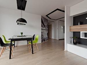 mieszkanie w Olsztynie - Średnia otwarta biała jadalnia w salonie, styl nowoczesny - zdjęcie od ap. studio architektoniczne Aurelia Palczewska-Dreszler