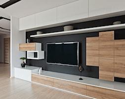 mieszkanie w Olsztynie - Duży salon, styl nowoczesny - zdjęcie od ap. studio architektoniczne Aurelia Palczewska-Dreszler