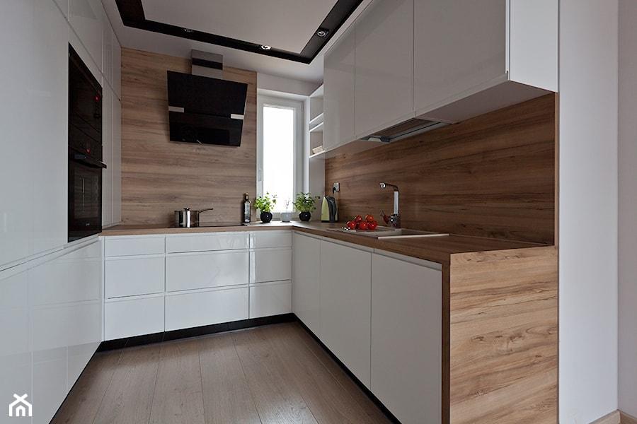 nowoczesna kuchnia w Olsztynie  zdjęcie od ap studio   # Kuchnia Orzech Dijon Naturalny