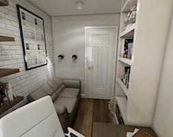 Nowoczesne mieszkanie w stylu prowansalskim - Średnie białe biuro kącik do pracy w pokoju, styl prowansalski - zdjęcie od marengo-architektura
