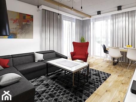 Aranżacje wnętrz - Salon: Mieszkanie Gliwice - marengo-architektura. Przeglądaj, dodawaj i zapisuj najlepsze zdjęcia, pomysły i inspiracje designerskie. W bazie mamy już prawie milion fotografii!