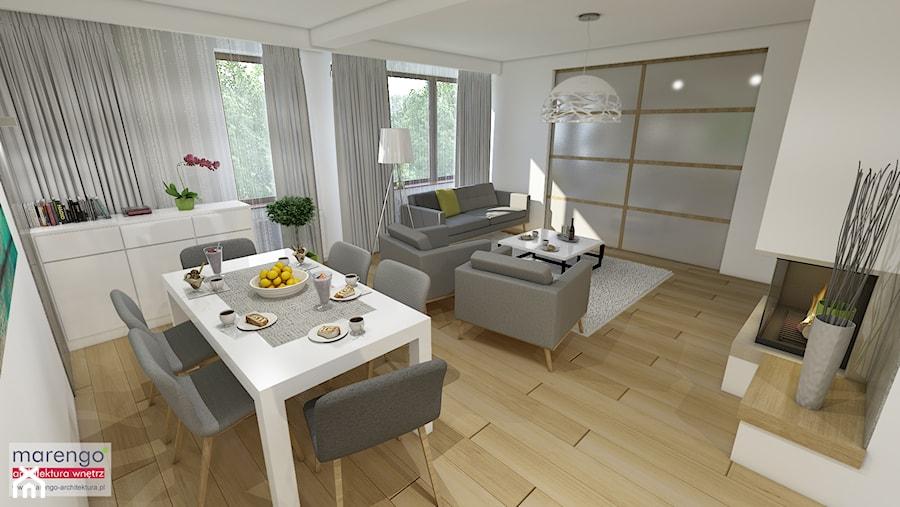 Aranżacje wnętrz - Jadalnia: Projekt wnętrza mieszkania pokazowego w Krakowie - marengo-architektura. Przeglądaj, dodawaj i zapisuj najlepsze zdjęcia, pomysły i inspiracje designerskie. W bazie mamy już prawie milion fotografii!