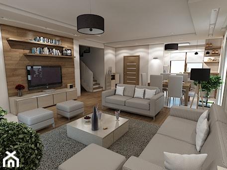 Aranżacje wnętrz - Salon: Wnętrze domu w stylu skandynawskim - marengo-architektura. Przeglądaj, dodawaj i zapisuj najlepsze zdjęcia, pomysły i inspiracje designerskie. W bazie mamy już prawie milion fotografii!