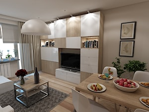Projekt wnętrza salonu styl angielskiskandynawski - zdjęcie od marengo-architektura