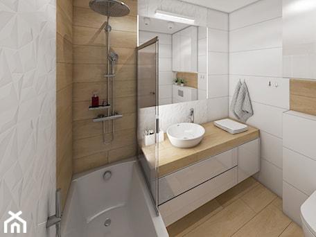 Aranżacje wnętrz - Łazienka: Projekt łazienki w Krakowie - marengo-architektura. Przeglądaj, dodawaj i zapisuj najlepsze zdjęcia, pomysły i inspiracje designerskie. W bazie mamy już prawie milion fotografii!
