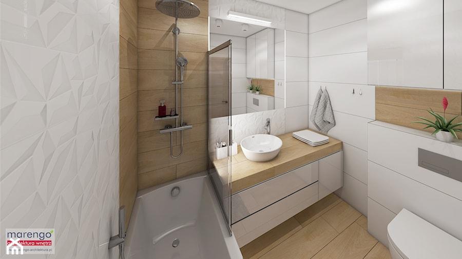 Projekt łazienki w Krakowie - zdjęcie od marengo-architektura