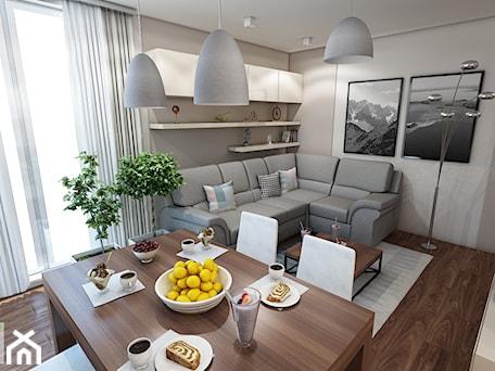 Aranżacje wnętrz - Salon: Mieszkanie w Krakowie - marengo-architektura. Przeglądaj, dodawaj i zapisuj najlepsze zdjęcia, pomysły i inspiracje designerskie. W bazie mamy już prawie milion fotografii!
