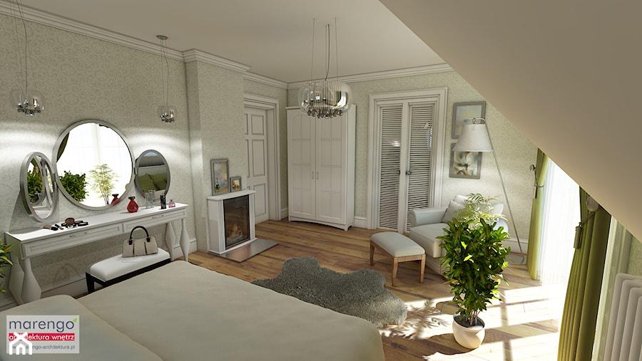 Aranżacje wnętrz - Sypialnia: Projekt wnętrza styl angielski - marengo-architektura. Przeglądaj, dodawaj i zapisuj najlepsze zdjęcia, pomysły i inspiracje designerskie. W bazie mamy już prawie milion fotografii!