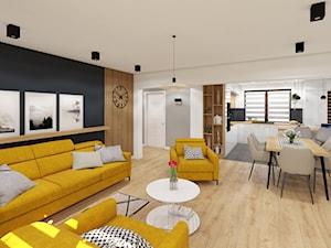 Musztardowy żółty we wnętrzu domu