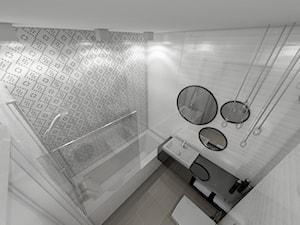 Mieszkanie styl skandynawski - Średnia łazienka w bloku w domu jednorodzinnym bez okna, styl skandynawski - zdjęcie od marengo-architektura