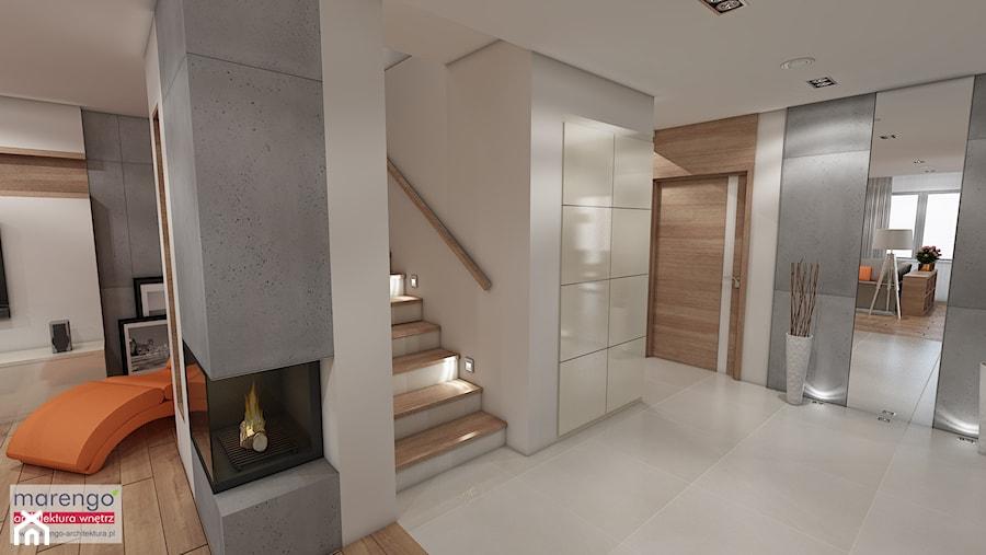 Aranżacje wnętrz - Hol / Przedpokój: Nowoczesny dom pod Krakowem - marengo-architektura. Przeglądaj, dodawaj i zapisuj najlepsze zdjęcia, pomysły i inspiracje designerskie. W bazie mamy już prawie milion fotografii!