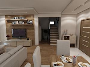 Wnętrze domu w stylu skandynawskim - zdjęcie od marengo-architektura