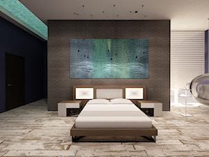 Nowoczesna sypialnia w stylu loft.
