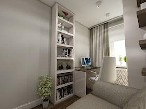 Nowoczesne mieszkanie w stylu prowansalskim - Średnie szare biuro kącik do pracy w pokoju, styl prowansalski - zdjęcie od marengo-architektura
