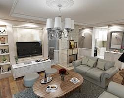 Projekt wnętrza salonu styl angielski - zdjęcie od marengo-architektura