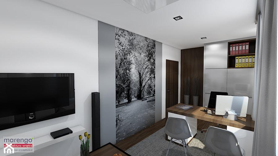 Aranżacje wnętrz - Biuro: Ujmujący minimalizm - marengo-architektura. Przeglądaj, dodawaj i zapisuj najlepsze zdjęcia, pomysły i inspiracje designerskie. W bazie mamy już prawie milion fotografii!