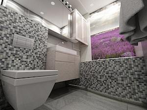 Nowoczesne mieszkanie w stylu prowansalskim - Mała łazienka w bloku bez okna, styl prowansalski - zdjęcie od marengo-architektura