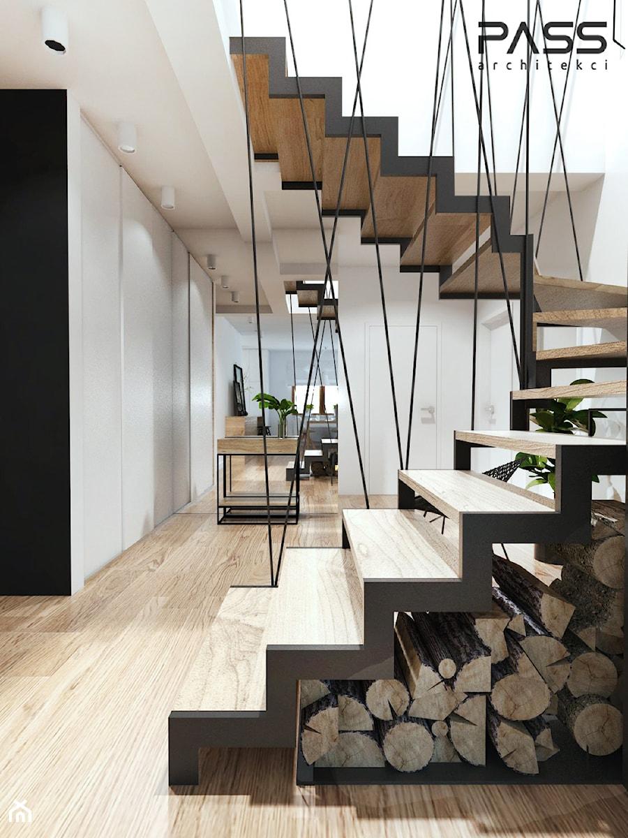Zupełnie nowe Projekt 18 - Średnie wąskie schody wachlarzowe drewniane metalowe XT97