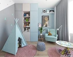 Projekt 30 - Mały szary pokój dziecka dla chłopca dla dziewczynki dla malucha, styl skandynawski - zdjęcie od PASS architekci