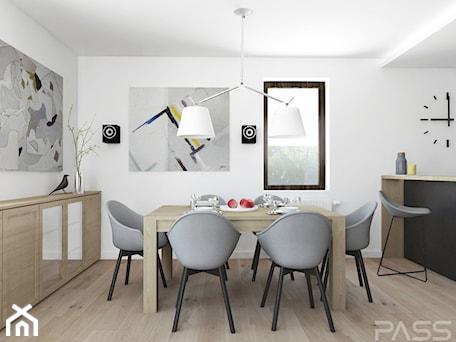 Aranżacje wnętrz - Jadalnia: Projekt 29 - Średnia otwarta biała jadalnia w kuchni, styl nowoczesny - PASS architekci. Przeglądaj, dodawaj i zapisuj najlepsze zdjęcia, pomysły i inspiracje designerskie. W bazie mamy już prawie milion fotografii!