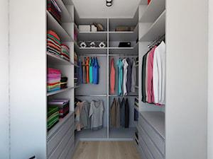 Projekt 29 - Średnia zamknięta garderoba, styl nowoczesny - zdjęcie od PASS architekci