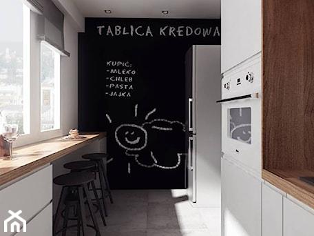 Aranżacje wnętrz - Kuchnia: projekt 10 - Średnia zamknięta biała kuchnia dwurzędowa w aneksie z oknem, styl nowoczesny - PASS architekci. Przeglądaj, dodawaj i zapisuj najlepsze zdjęcia, pomysły i inspiracje designerskie. W bazie mamy już prawie milion fotografii!