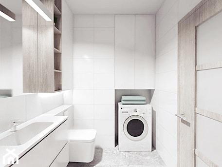 Aranżacje wnętrz - Łazienka: projekt 12 - Średnia biała łazienka, styl minimalistyczny - PASS architekci. Przeglądaj, dodawaj i zapisuj najlepsze zdjęcia, pomysły i inspiracje designerskie. W bazie mamy już prawie milion fotografii!