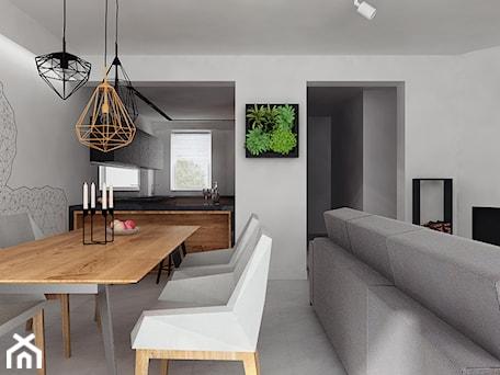 Aranżacje wnętrz - Jadalnia: projekt 11 - Średnia otwarta biała jadalnia w kuchni, styl nowoczesny - PASS architekci. Przeglądaj, dodawaj i zapisuj najlepsze zdjęcia, pomysły i inspiracje designerskie. W bazie mamy już prawie milion fotografii!
