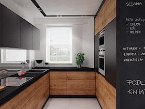 projekt 11 - Średnia biała kuchnia w kształcie litery u w aneksie, styl nowoczesny - zdjęcie od PASS architekci