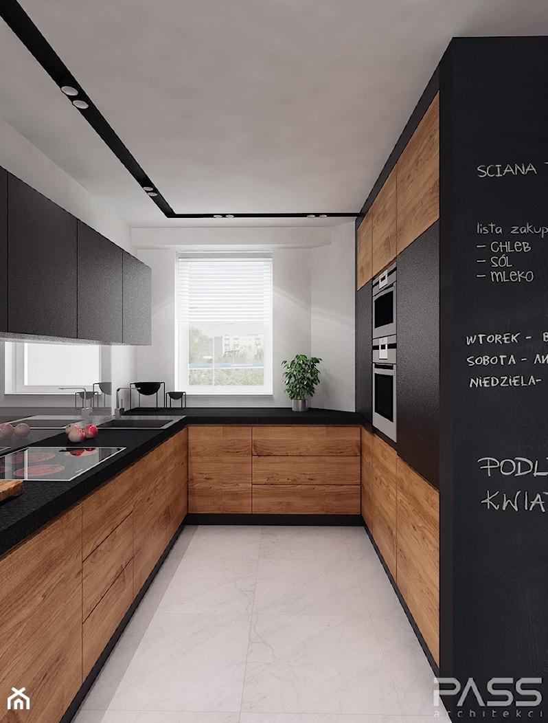 projekt 11 - Średnia biała kuchnia w kształcie litery u w aneksie, styl nowoczesny - zdjęcie od PASS architekci - Homebook