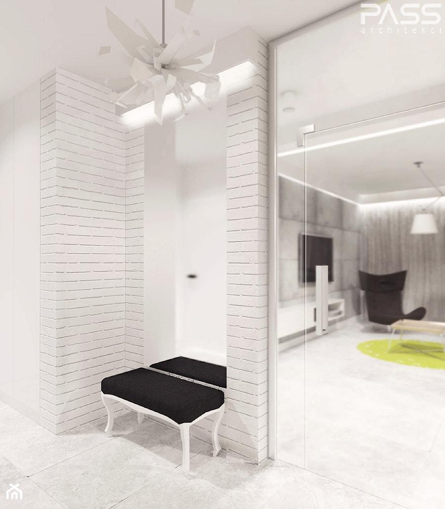 projekt 6 - Średni biały hol / przedpokój, styl minimalistyczny - zdjęcie od PASS architekci