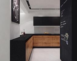 projekt 11 - Duża otwarta biała kuchnia w kształcie litery l, styl nowoczesny - zdjęcie od PASS architekci