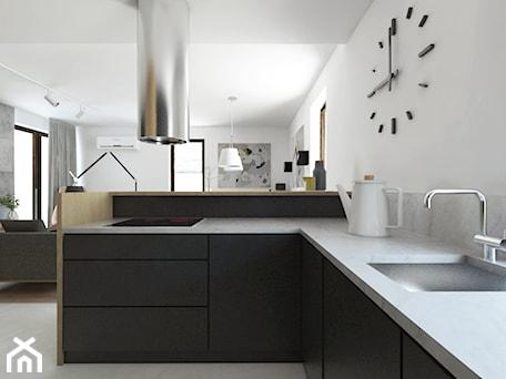 Aranżacje wnętrz - Kuchnia: Projekt 29 - Średnia otwarta biała kuchnia w kształcie litery l w aneksie, styl nowoczesny - PASS architekci. Przeglądaj, dodawaj i zapisuj najlepsze zdjęcia, pomysły i inspiracje designerskie. W bazie mamy już prawie milion fotografii!