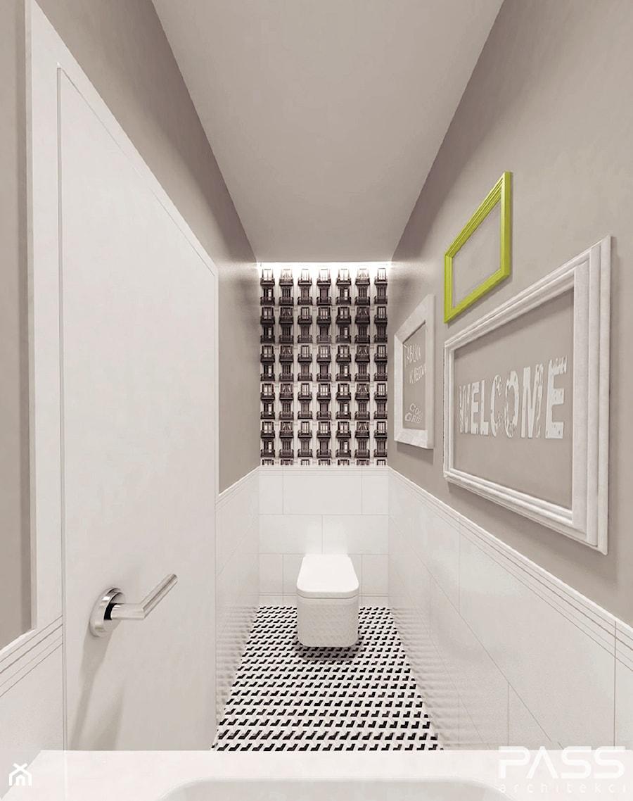 projekt 6 - Łazienka, styl minimalistyczny - zdjęcie od PASS architekci