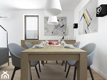 Aranżacje wnętrz - Jadalnia: Projekt 29 - Średnia otwarta biała jadalnia w salonie, styl nowoczesny - PASS architekci. Przeglądaj, dodawaj i zapisuj najlepsze zdjęcia, pomysły i inspiracje designerskie. W bazie mamy już prawie milion fotografii!