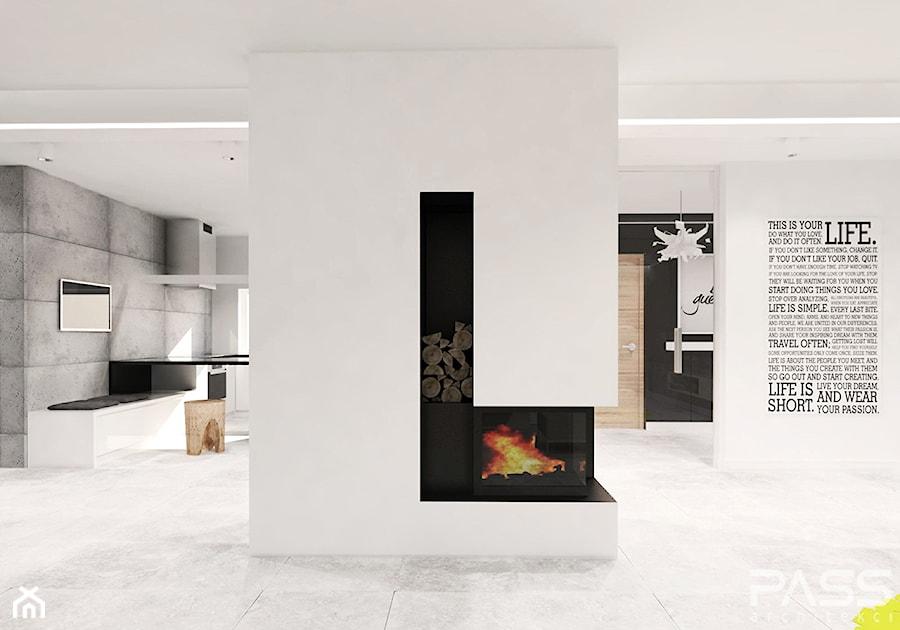 projekt 6 - Salon, styl minimalistyczny - zdjęcie od PASS architekci