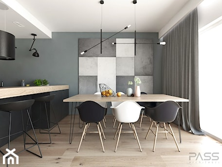 Aranżacje wnętrz - Jadalnia: Projekt 31 - Średnia otwarta szara jadalnia w kuchni, styl nowoczesny - PASS architekci. Przeglądaj, dodawaj i zapisuj najlepsze zdjęcia, pomysły i inspiracje designerskie. W bazie mamy już prawie milion fotografii!