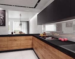 projekt 11 - Duża otwarta biała kuchnia w kształcie litery l w aneksie, styl nowoczesny - zdjęcie od PASS architekci