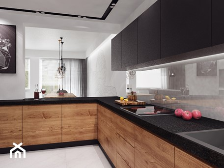 Aranżacje wnętrz - Kuchnia: projekt 11 - Duża otwarta biała kuchnia w kształcie litery l w aneksie, styl nowoczesny - PASS architekci. Przeglądaj, dodawaj i zapisuj najlepsze zdjęcia, pomysły i inspiracje designerskie. W bazie mamy już prawie milion fotografii!
