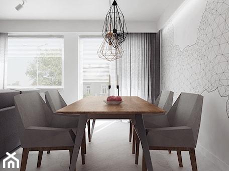 Aranżacje wnętrz - Jadalnia: projekt 11 - Średnia otwarta biała jadalnia w salonie, styl nowoczesny - PASS architekci. Przeglądaj, dodawaj i zapisuj najlepsze zdjęcia, pomysły i inspiracje designerskie. W bazie mamy już prawie milion fotografii!